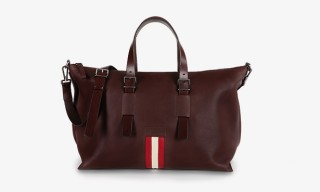 Bally's New Stripe Collection Weekender Bag