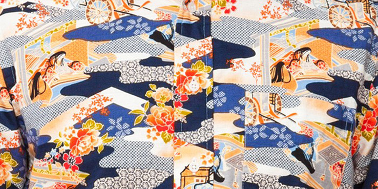 Gitman Vintage - Kimono Pattern Camo Shirt