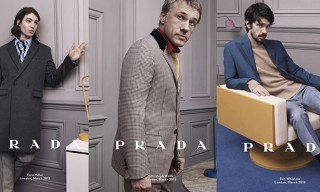 Christoph Waltz, Ezra Miller for Prada Fall Water 2013 Campaign