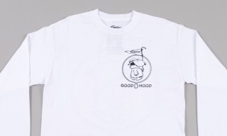 A Familiar Canine on this Gasius for Goodhood Long-Sleeved White Tee