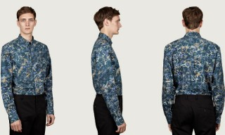 Acne Men's Isherwood Marble Print Shirt