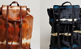 A Tie-dye Cowhide Dries Van Noten Backpack for Fall Winter 2013
