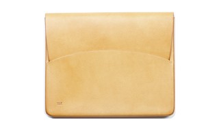 Feit Moulded iPad Case in Natural Vegetable Leather