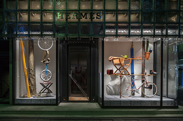 See the Playful Hermès Window Installation in Ginza, Tokyo 2