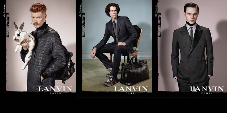 Lanvin Homme Fall 2013 Campaign with 6 Men of Diversity