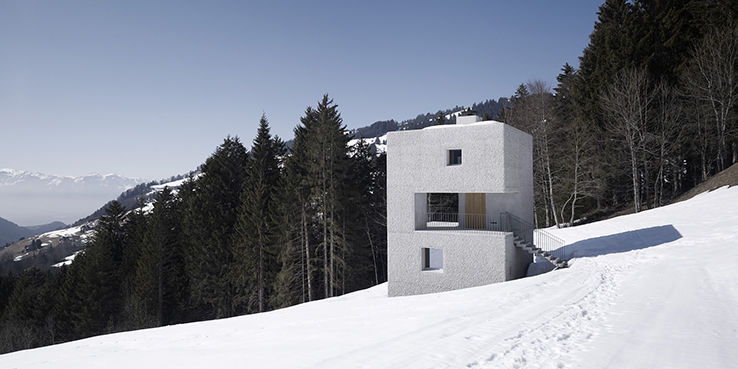 See a Mountain Cabin in Austria that Engages with Its Surrounding Landscape