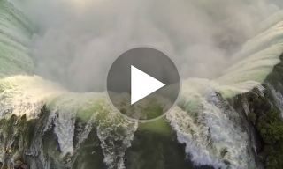 Man Sends Toy Helicopter over Niagara Falls – Captures Amazing Footage