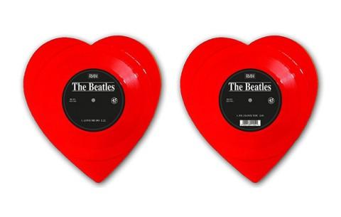 "The Beatles ""Love Me Do"" Heart-Shaped Vinyl Single 1"