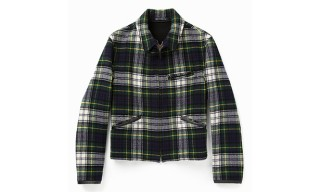 A Tartan Harrington Jacket – Made in England by Gloverall for YMC