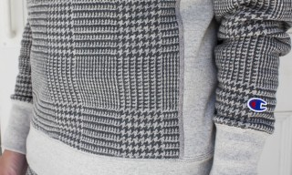 Champion Houndstooth Sweats for Nanamica Fall Winter 2013