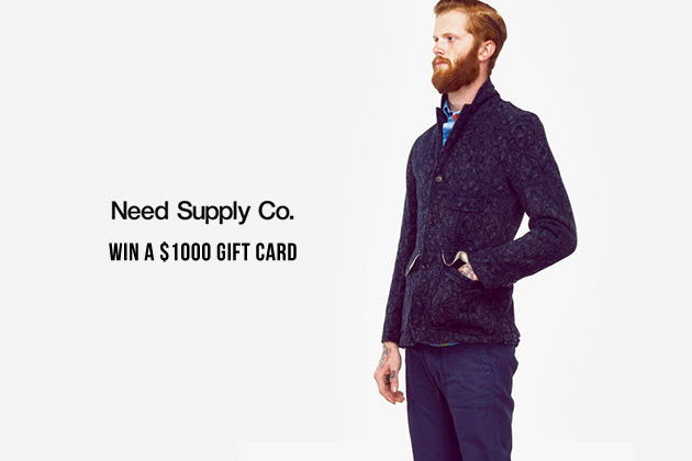 Win $1,000 to Spend at Need Supply Co.