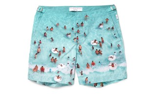 Orlebar Brown Pool Print 'Bulldog' Swim Shorts