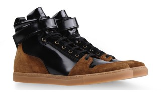 AMI Fall Winter 2013 Suede and Polished Leather High-Top
