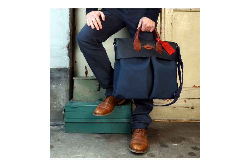 Leon Flam '21 Hour' Canvas & Leather Helmet Bag • Selectism