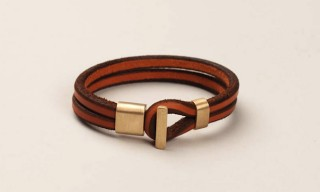 Tanner Goods Vegetable Tanned Leather and Brass Bracelets