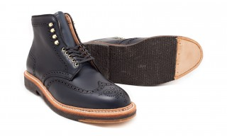 Alden for Leffot Navy Chromexcel Greenwhich Wingtip Boot