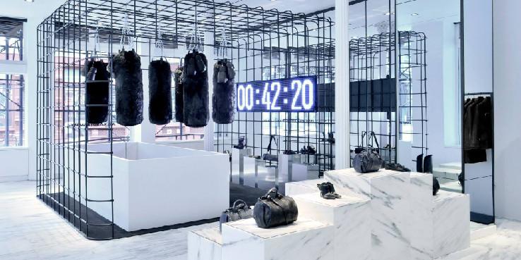 Alexander Wang Boxing Cage Installation 2013 00