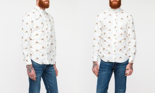 Gitman Vintage Leopard Head Oxford Shirt