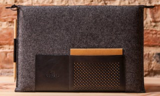 Ostfold 698 Wool and Leather MacBook Case
