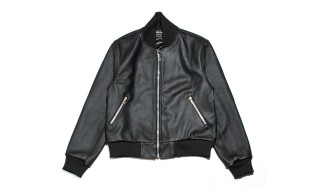 Leather Bomber Jacket by Brooklyn's QC // WC