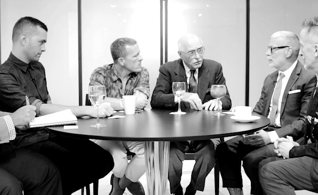 Barneys Host A Mens Round Table with Luciano Barbera, Nick Wooster & Scott Schuman