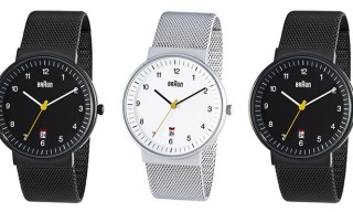 Braun Stainless Steel Mesh Strap Watches – 2 Ways
