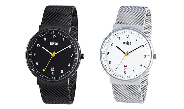 Braun Stainless Steel Mesh Strap Watches   2 Ways