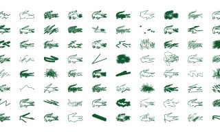 "Lacoste Collector No.8 ""Crazy Crocodiles"" by Peter Saville for Holiday 2013"