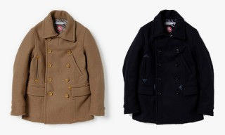 nonnative Heavy Melton Peacoats with Windstopper