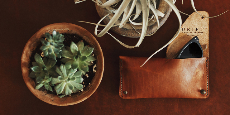 Winter Session and DRIFT Horween Leather Eyewear Case