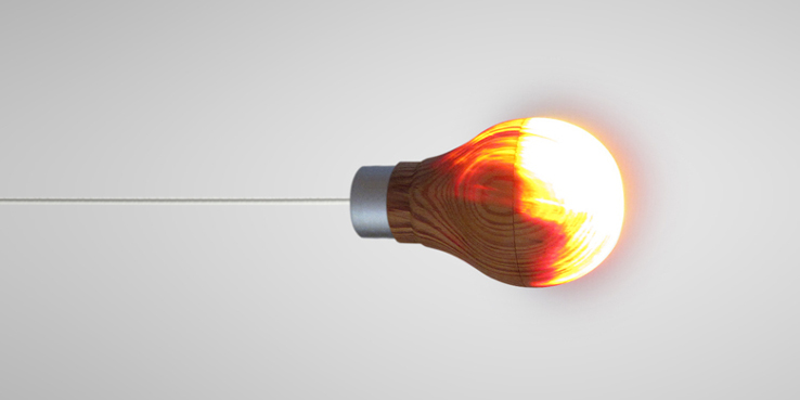 Wooden Lightbulb 00
