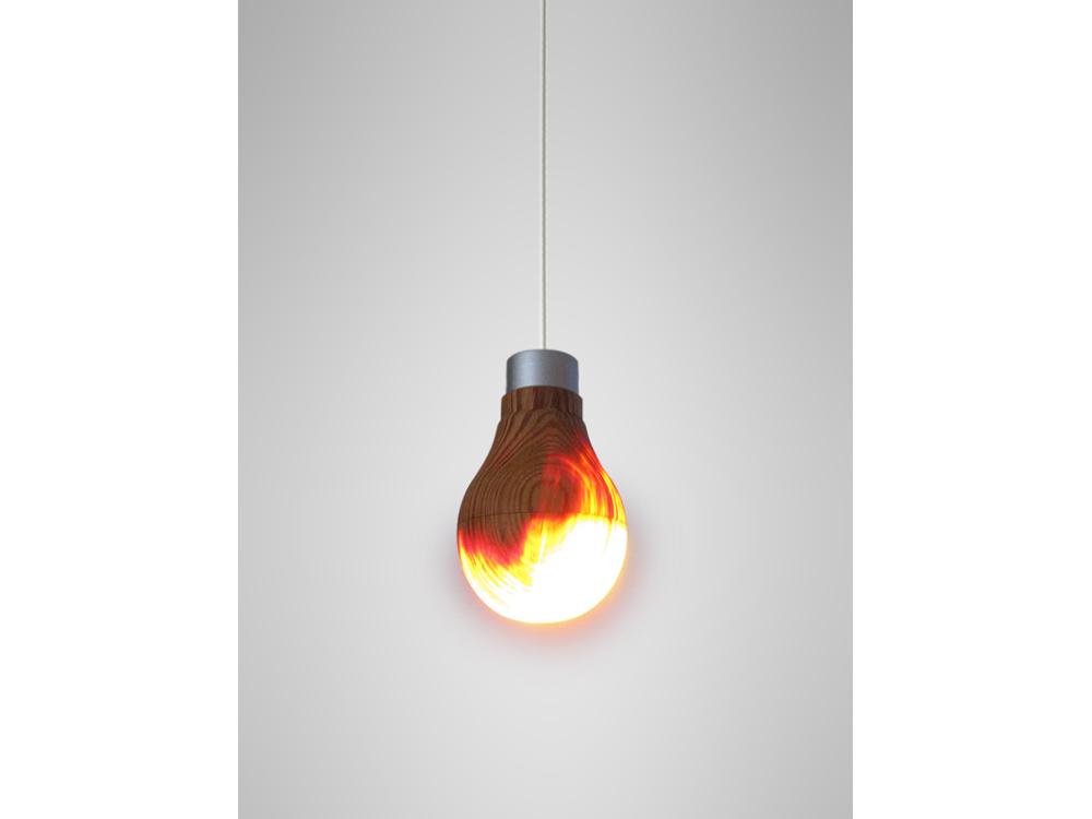 Wooden Lightbulb 02