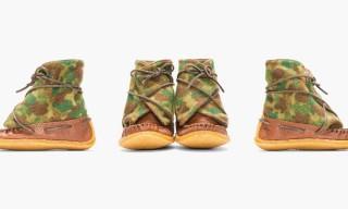 Yuketen Camo Wool Moccasin Boots