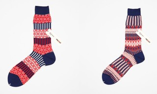 Red, White and Blue Meet In These Ayame Socks For Present