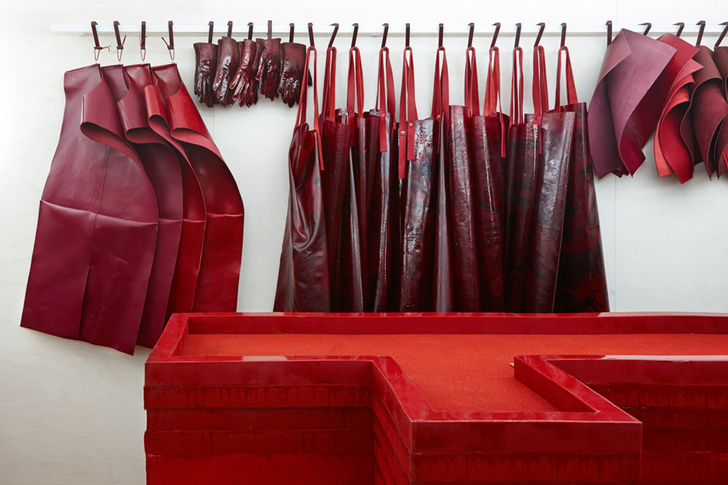 Studio Toogood Create Bloody Installation For Hermès London Store