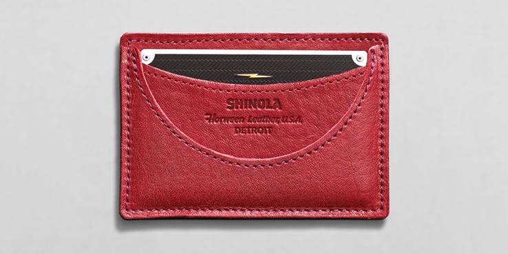 Shinola Horween Leather Card Holder For Downsizing Days