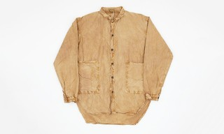 Tender Fall Winter 2013 Long-Length Shirt in Rust Printer's Cotton