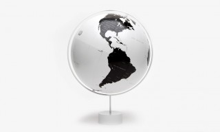 Nendo Watanabe Black and White Globe for Monocle Magazine
