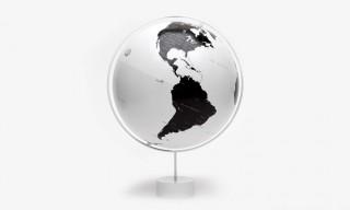 Nendo Watanabe Black and White Globe for Monocle Magazine