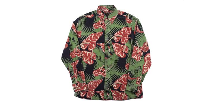 Island Life In This Sun Surf Corduroy Aloha Shirt