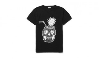Saint Laurent Pineapple Skull-Head Cocktail T-Shirt