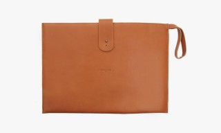 COMMUNE de PARIS Leather Document Wallet