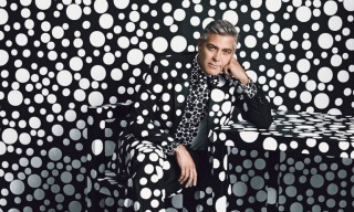 George Clooney Dons Custom Giorgio Armani by Yayoi Kusama for W