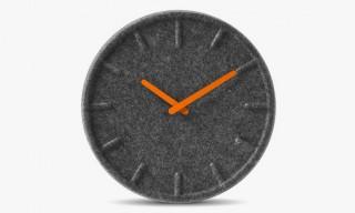 LEFF Amsterdam Felt Clock by Sebastian Herkner