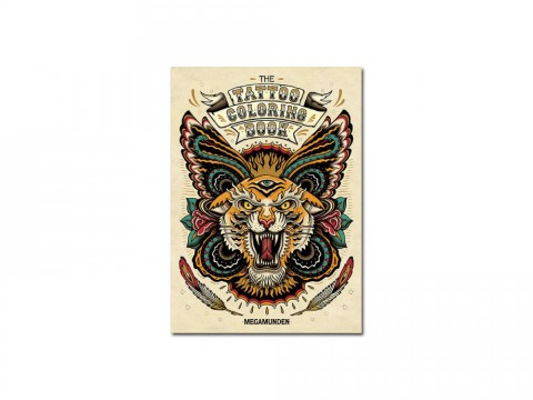 """Look inside """"The Tattoo Coloring Book"""" by Megamunden"""