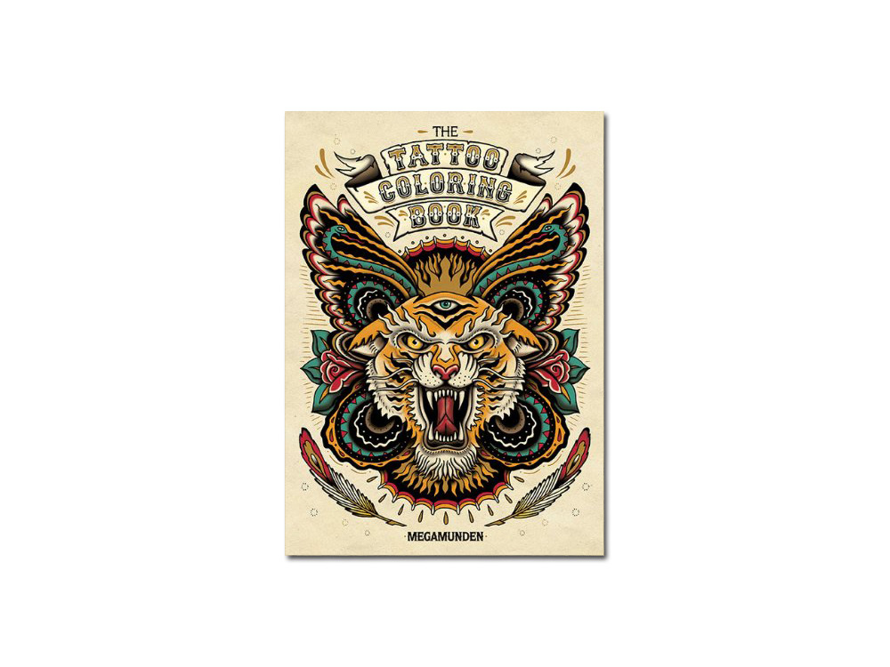 Look inside The Tattoo Coloring Book by Megamunden