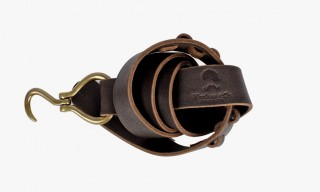 Wheelmen & Co. Buffalo Leather Hook Belt