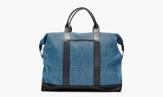 A Faded Blue – Orlebar Brown Leather Trimmed Taylor Tote
