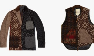 Monitaly Patch Wool Vest and Blazer