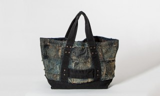 A Boro Tote From Kapital For Fans Of Broken Down Patchwork Indigo